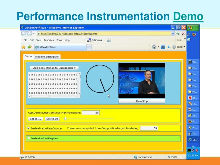 Performance Instrumentation