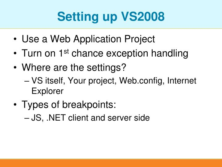 Setting up VS2008