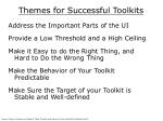 themes for successful toolkits