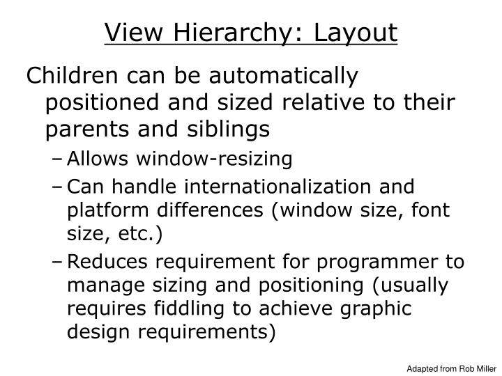 View Hierarchy: Layout