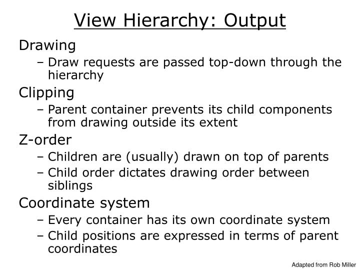 View Hierarchy: Output