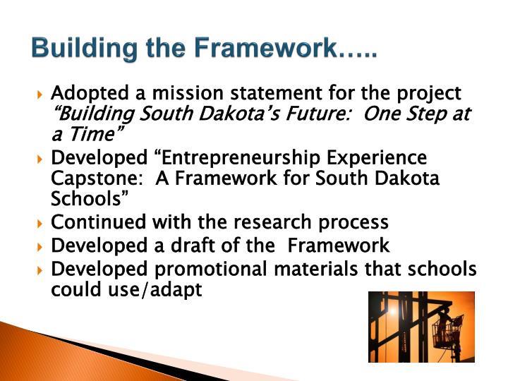 Building the Framework…..