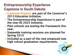 entrepreneurship experience capstone in south dakota