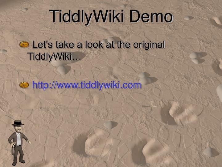 TiddlyWiki Demo