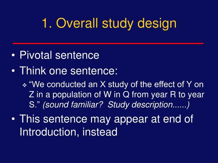 1. Overall study design