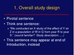 1 overall study design