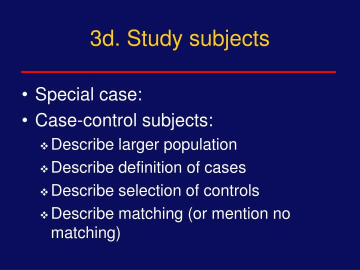 3d. Study subjects