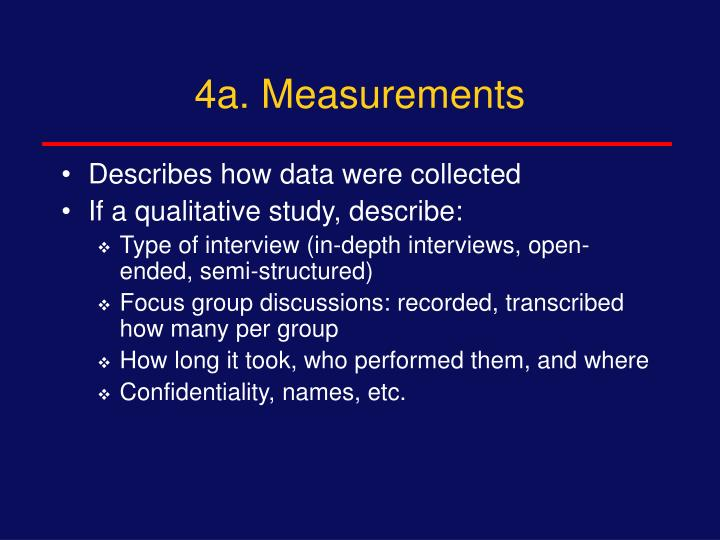4a. Measurements