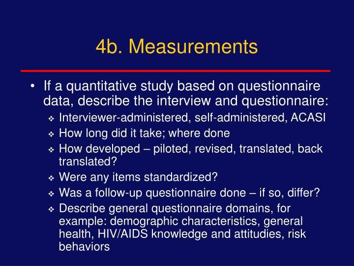 4b. Measurements