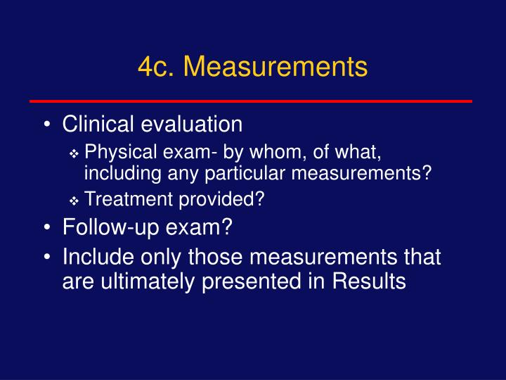 4c. Measurements