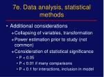 7e data analysis statistical methods