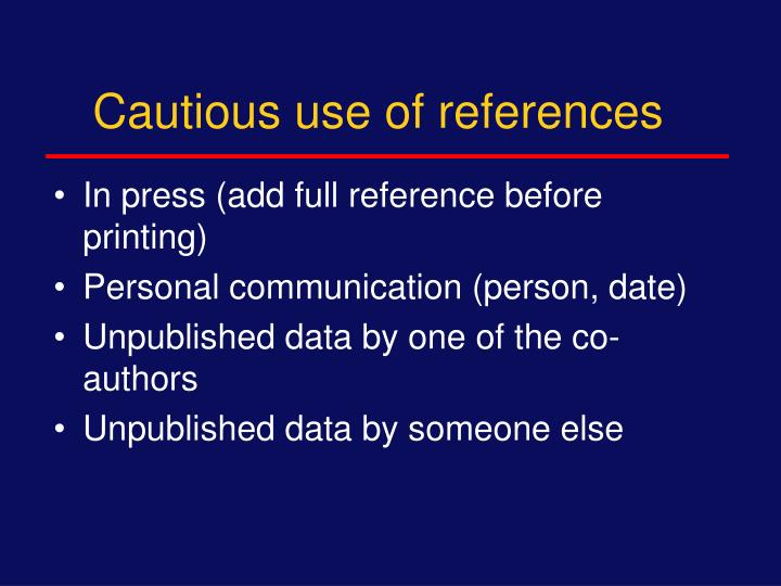 Cautious use of references