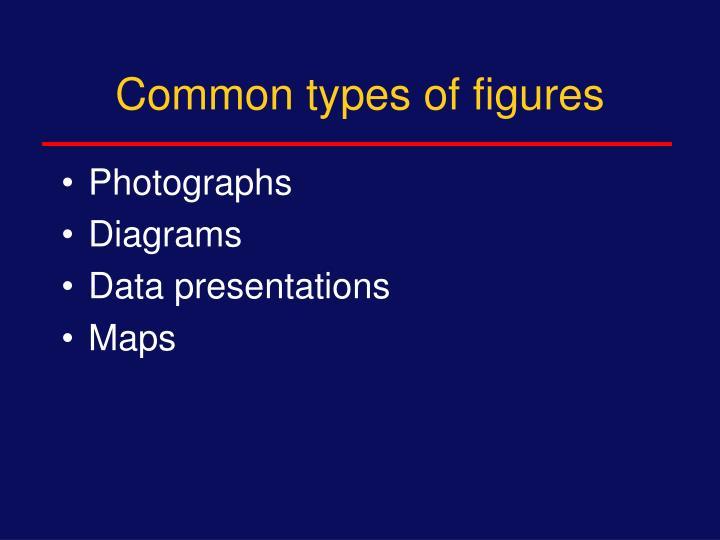 Common types of figures
