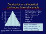 distribution of a theoretical continuous interval variable