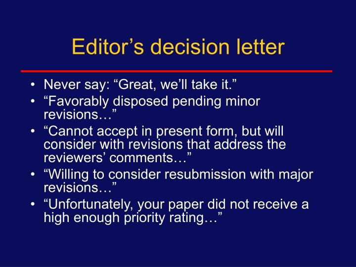 Editor's decision letter