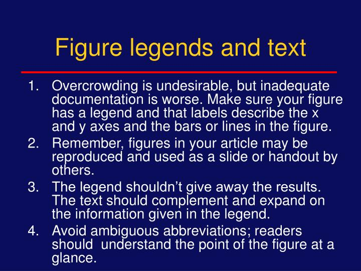 Figure legends and text