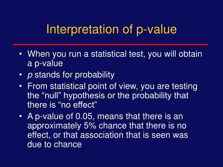 Interpretation of p-value