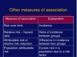 other measures of association