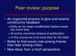 peer review purpose