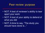 peer review purpose1