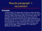 results paragraph 1 recruitment1