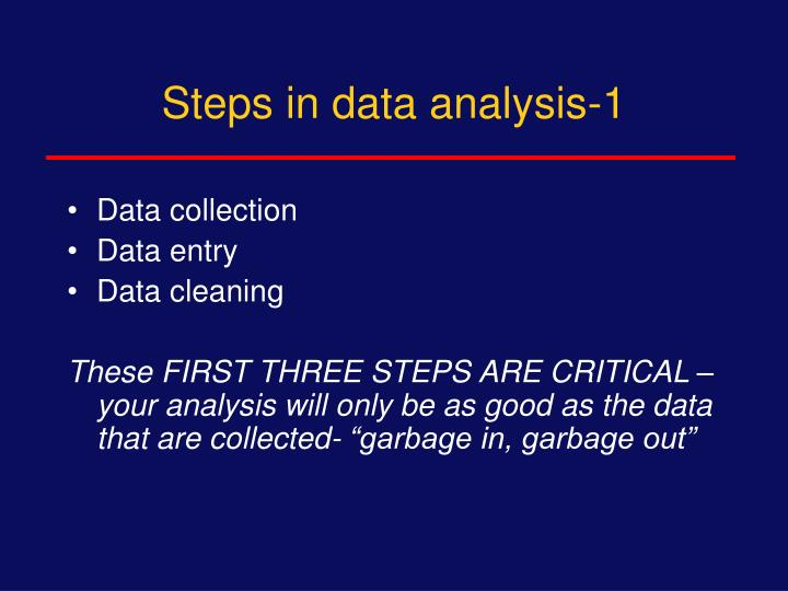 Steps in data analysis-1