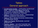 tables general approach1