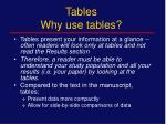 tables why use tables