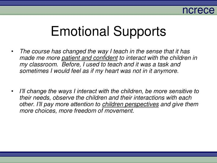 Emotional Supports