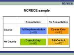 ncrece sample