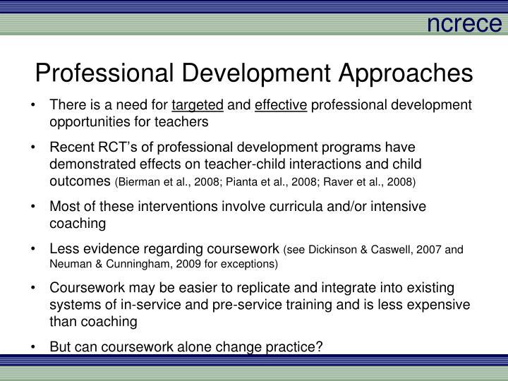 Professional Development Approaches