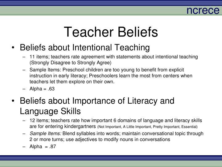 Teacher Beliefs