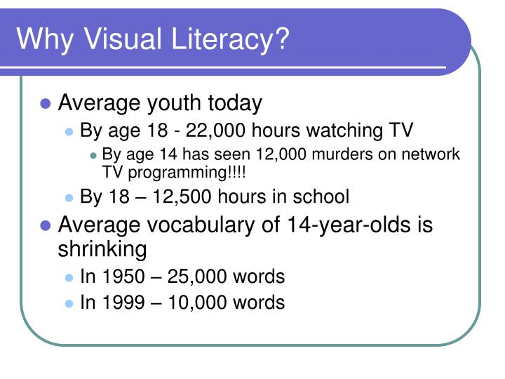 Why Visual Literacy?
