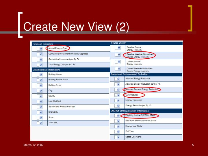 Create New View (2)