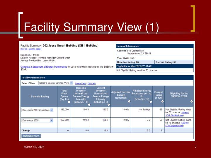 Facility Summary View (1)