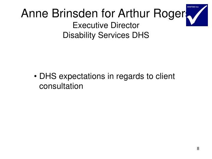 Anne Brinsden for Arthur Rogers