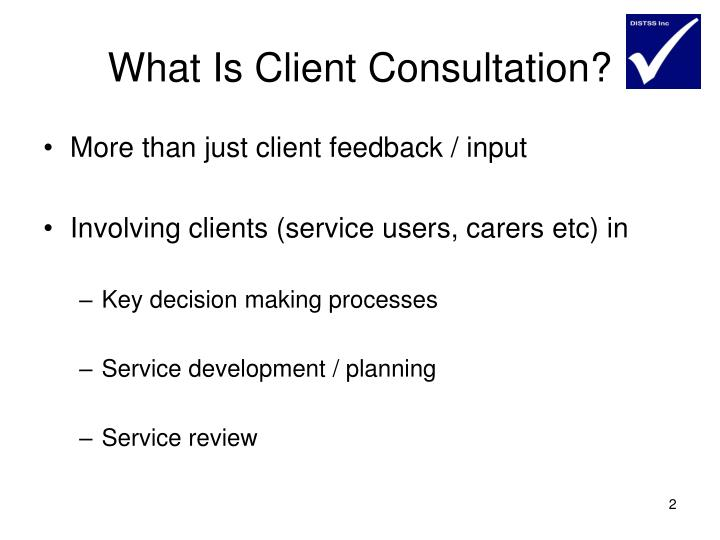 What Is Client Consultation?