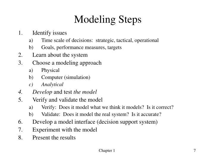 Modeling Steps