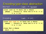 encoding type class abstraction