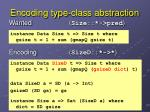 encoding type class abstraction1