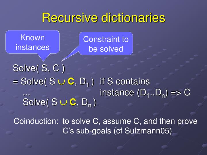 Recursive dictionaries