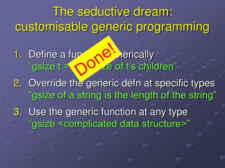 The seductive dream: