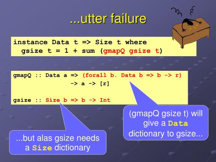 ...utter failure