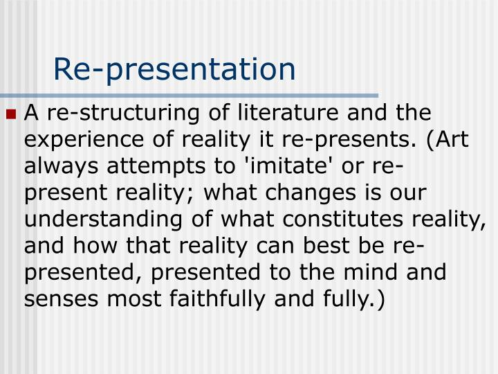 Re-presentation