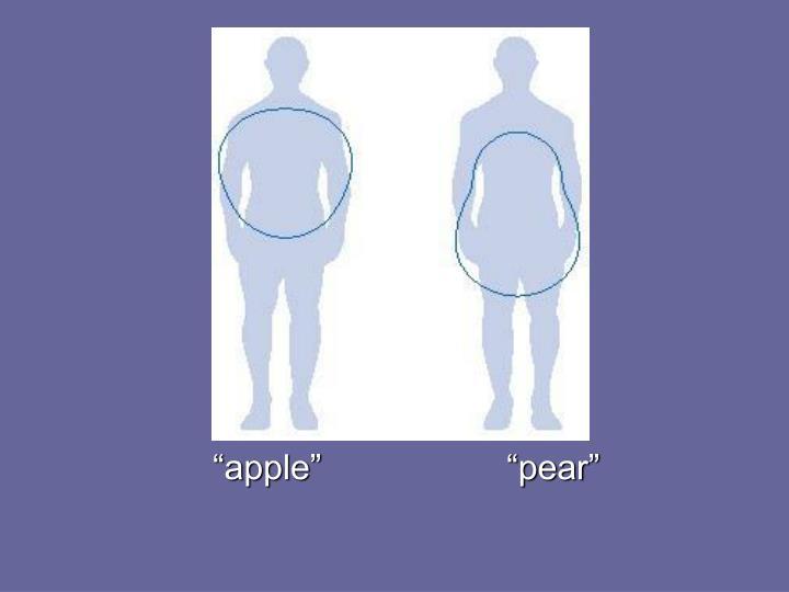 """""""apple""""                   """"pear"""""""