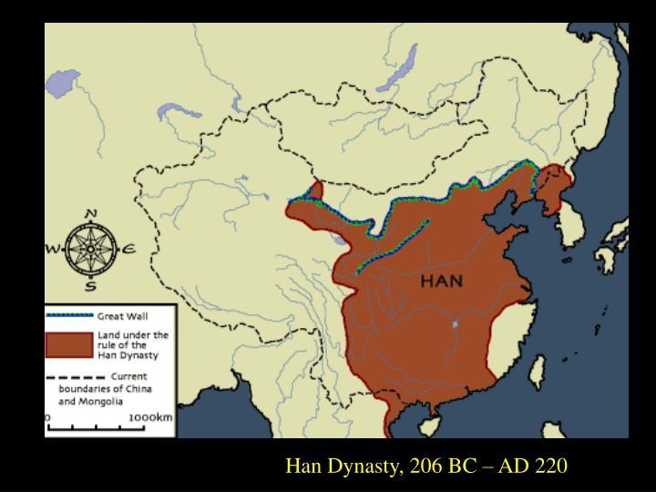 Han Dynasty, 206 BC – AD 220