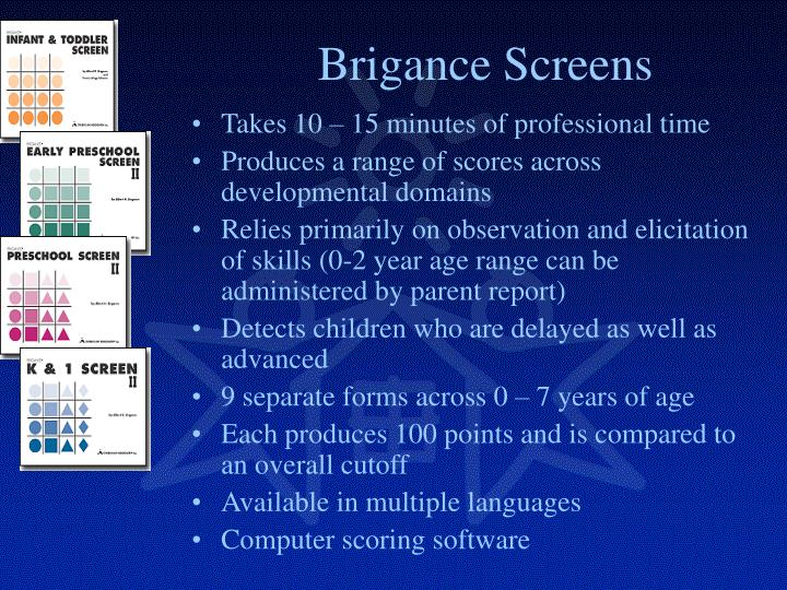 Brigance Screens