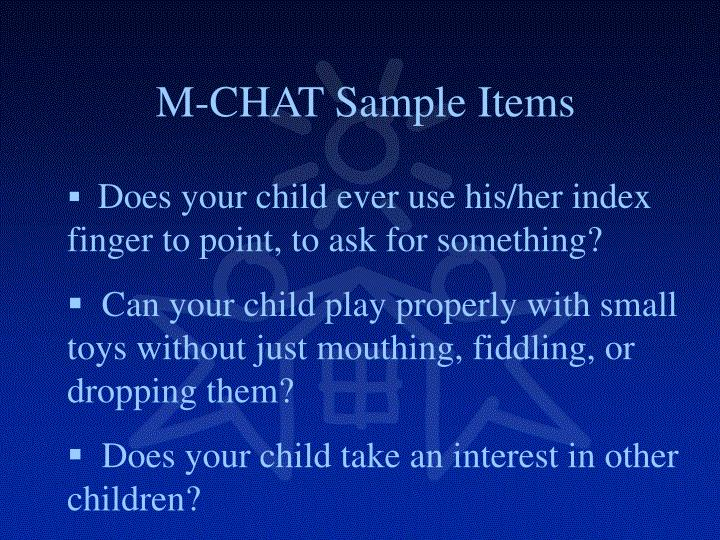 M-CHAT Sample Items