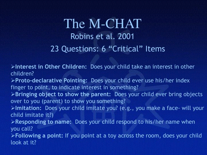 The M-CHAT