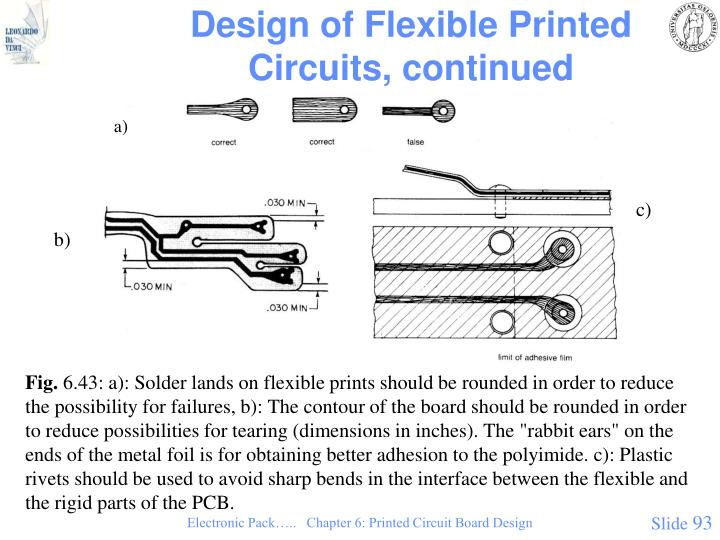 Design of Flexible Printed Circuits, continued